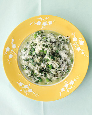 Spinach Risotto with Peas