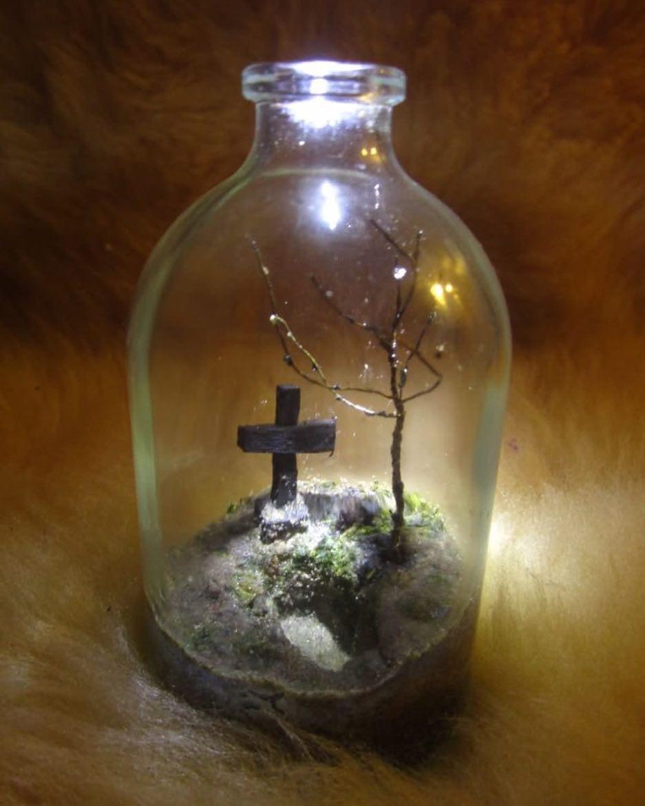 Glass bottlecemeterrarium