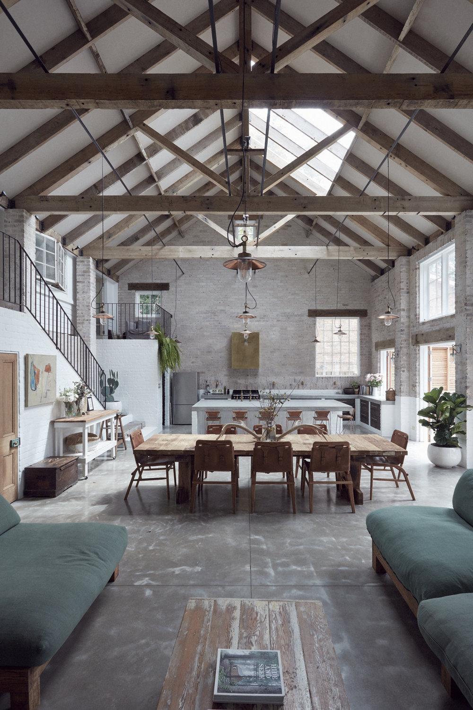 Barn like interior