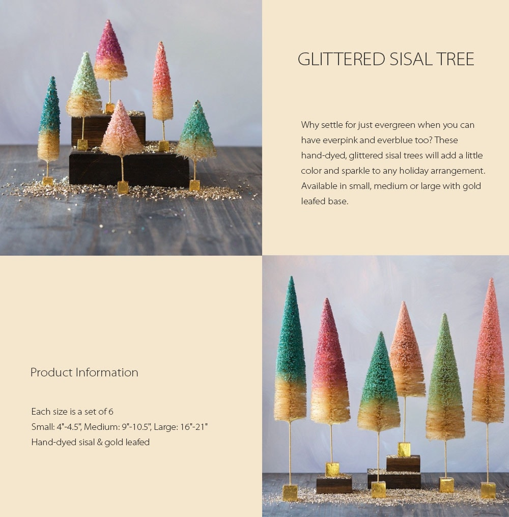 Glittered Sisal Tree