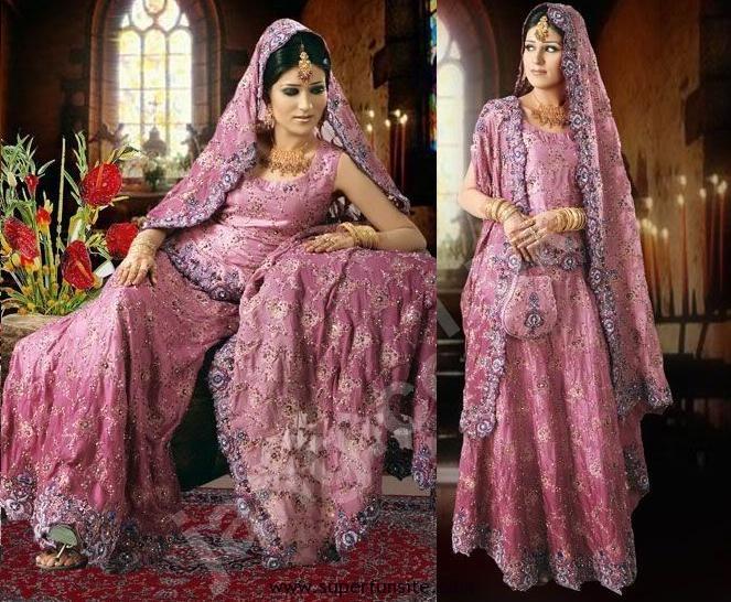 Pink bridal lahnga