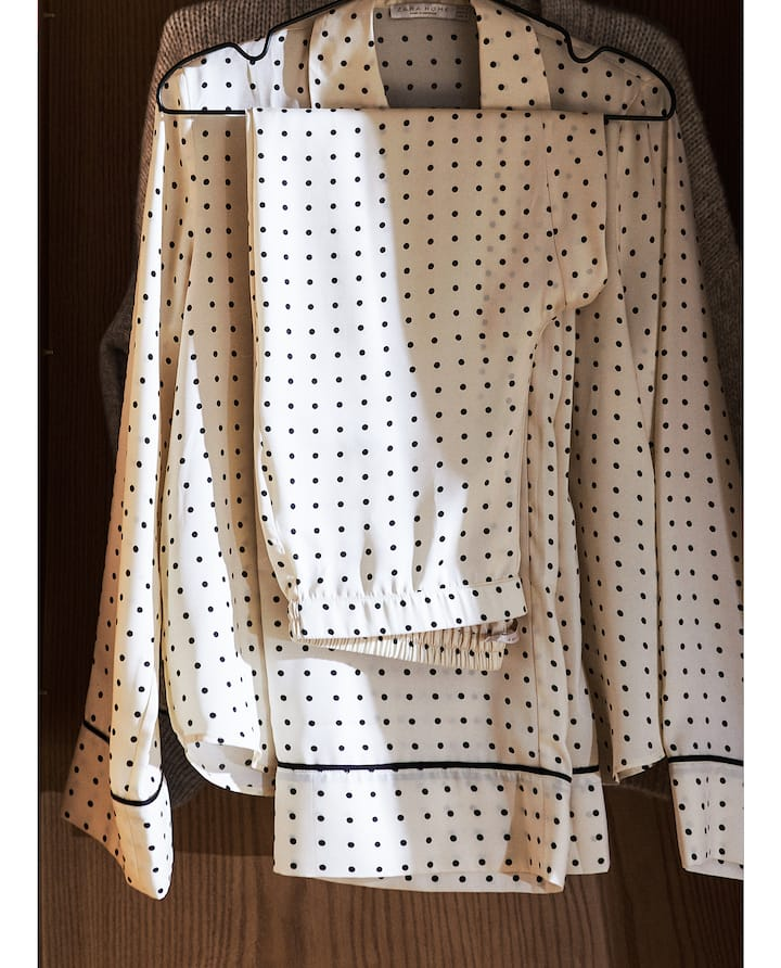 Dotted satin PJs
