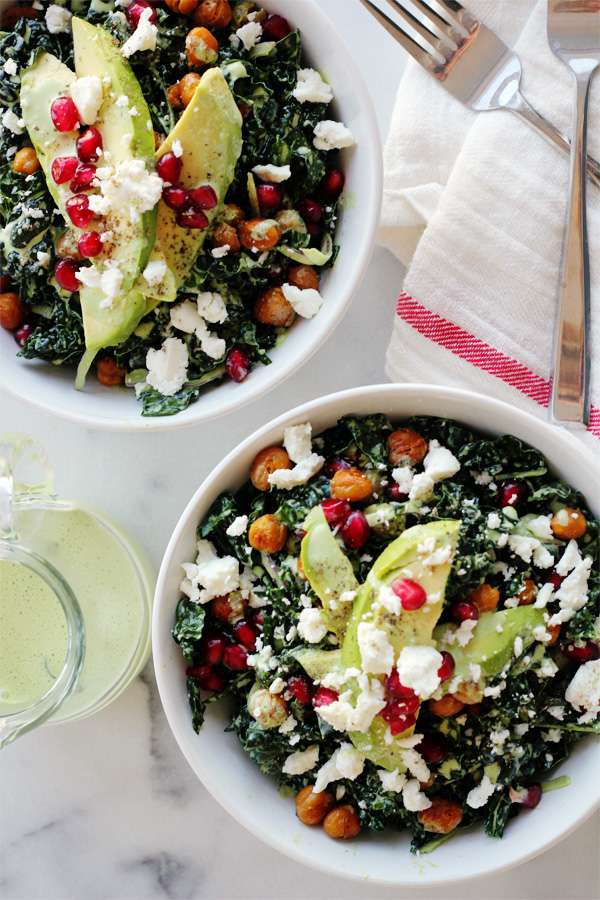 Green Goddess Kale Power Salad