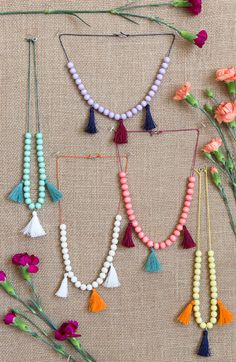 Kids' moroccan tassel necklace