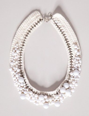 Collars - white bubbles necklace