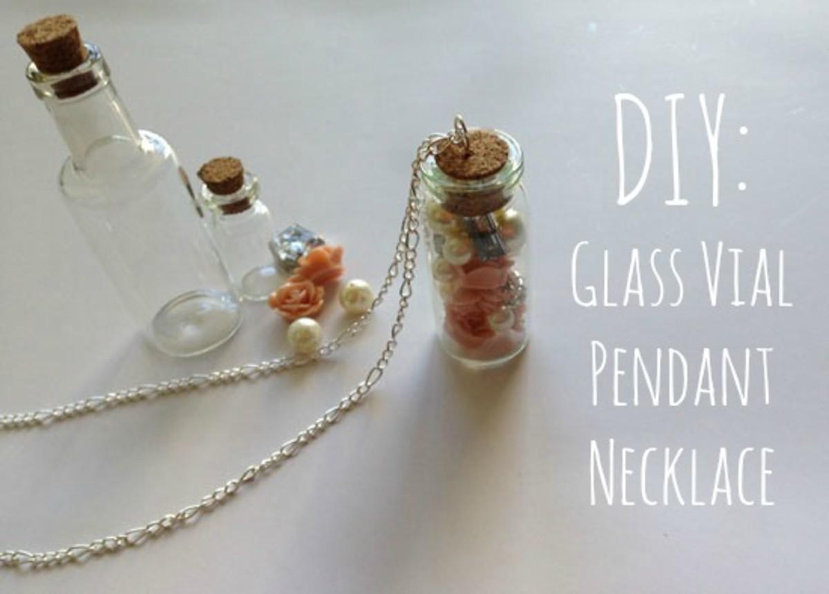 Diy glass vial pendant necklace