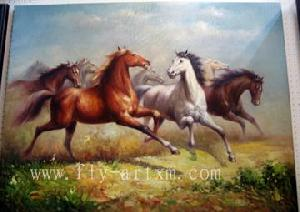 Horses oil paintings