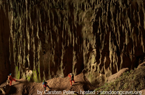 Wonderful stalactites in cave