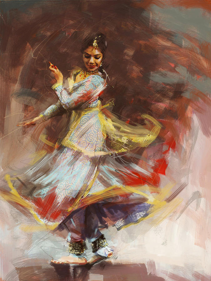 Classical indian dance painting
