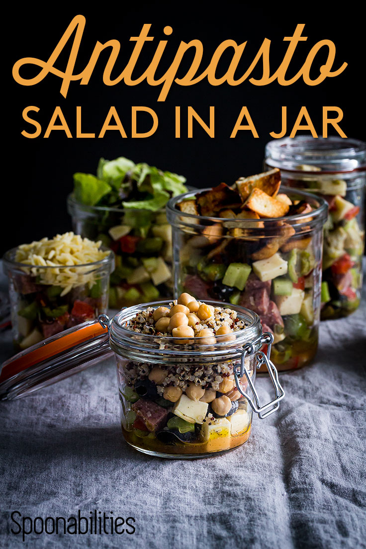 Antipasto salad in-a-jar.
