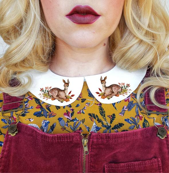 Deer Peter Pan Collar