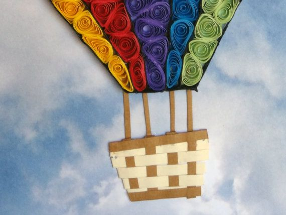 Quilling hot air balloon