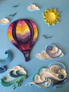 Hot air balloon quilling