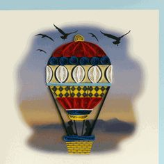 Hot air balloon quilling patterns