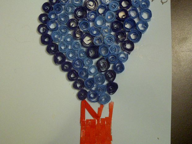 Quilling hot hot air balloon