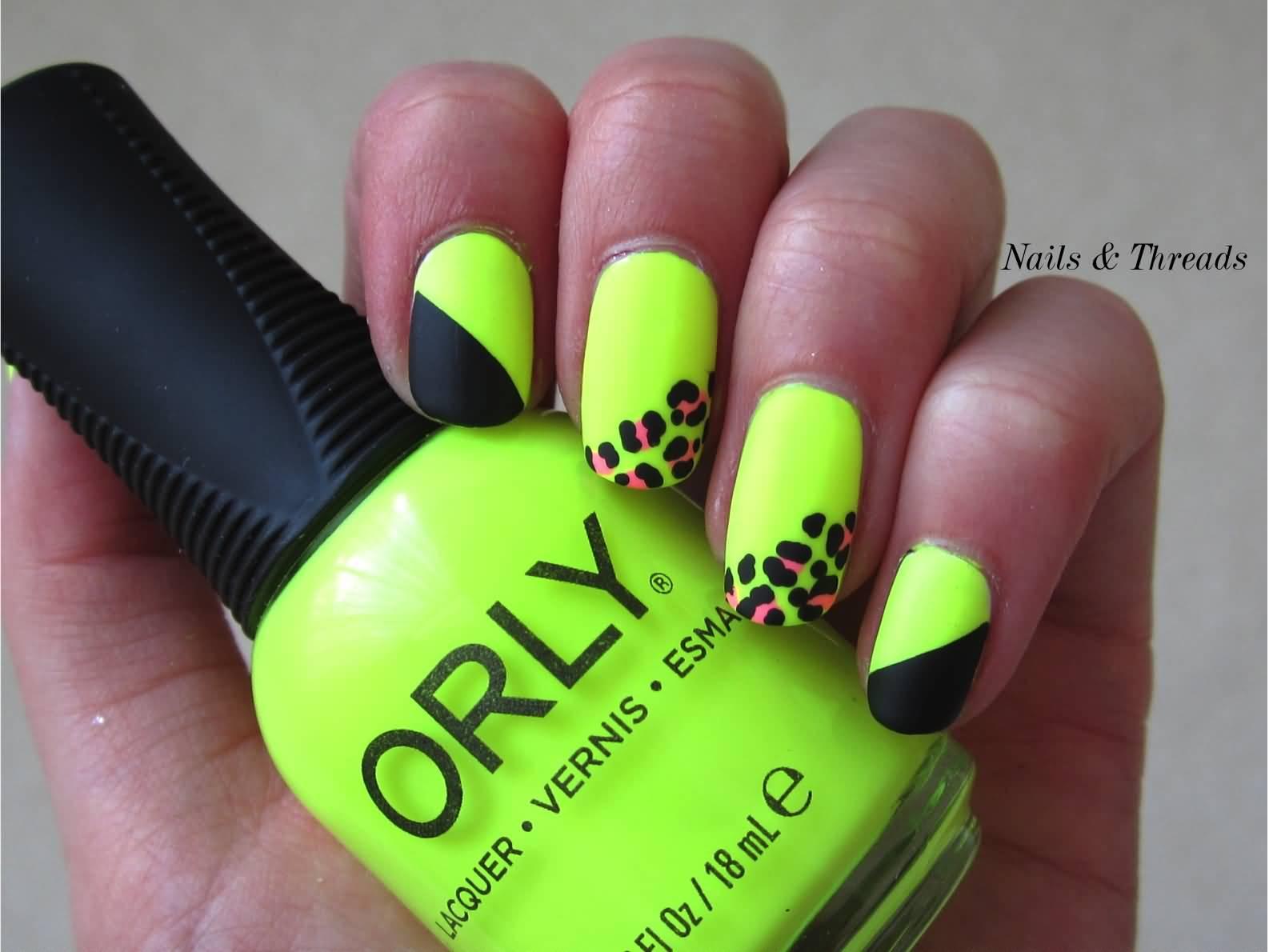 Latest neon nail art design ideas