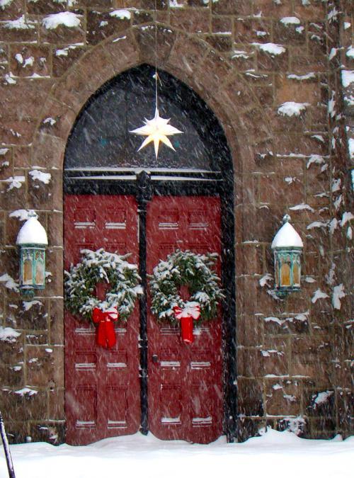 Snowey Red Doors