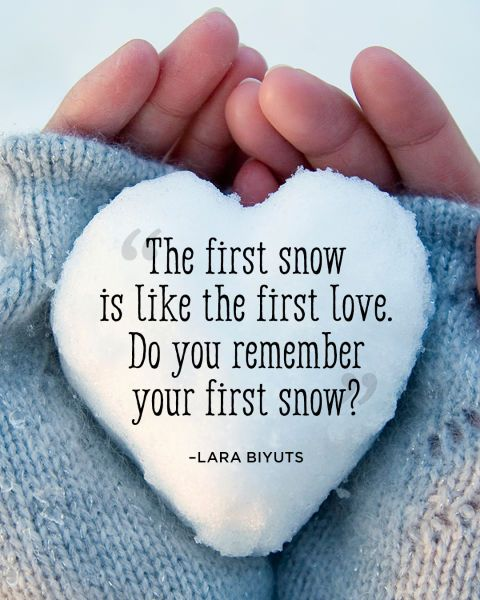 Do you remember your first snow?