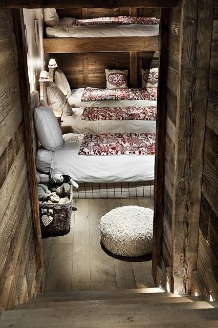 French ski chalet bedroom