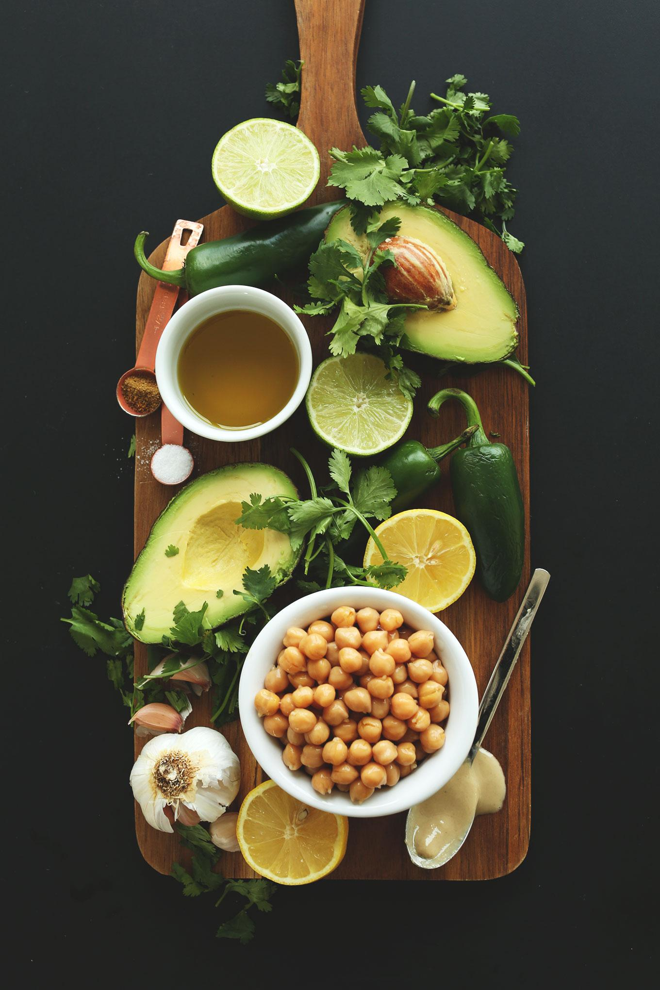 Roasted jalapeno-hummus