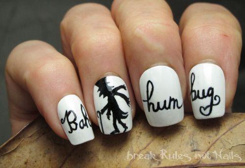 Bah Humbug nails.