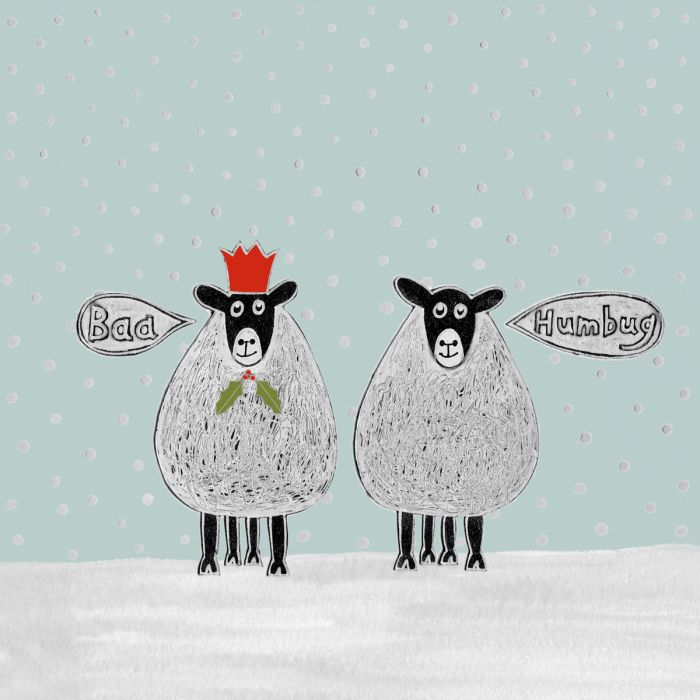 Baa Humbug Christmas Cards.