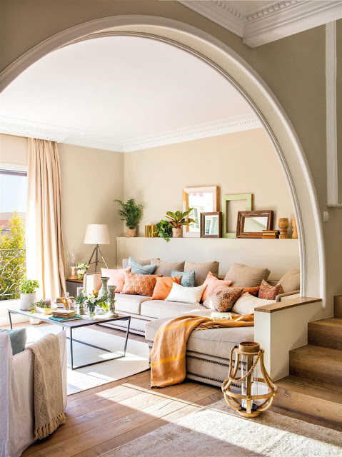 A gracefully arched room