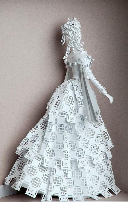 Amazing paper shapes sculpture
