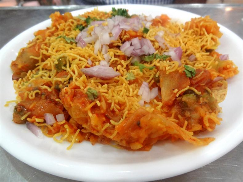 Spicy tasty samosa chaat
