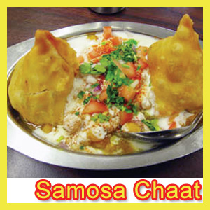 Samosa chaat recipe