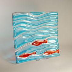 Fun fishy dishy in fused glass