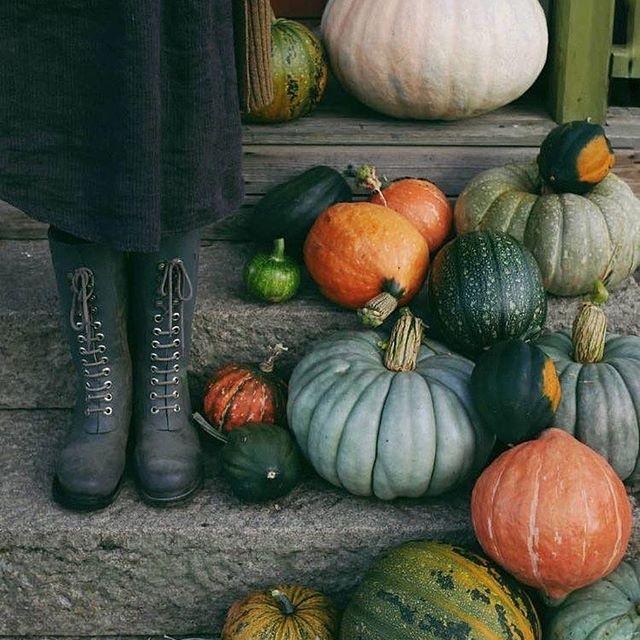boots and pumpkins