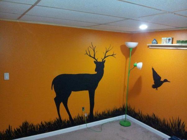 Boys hunting room wall decal