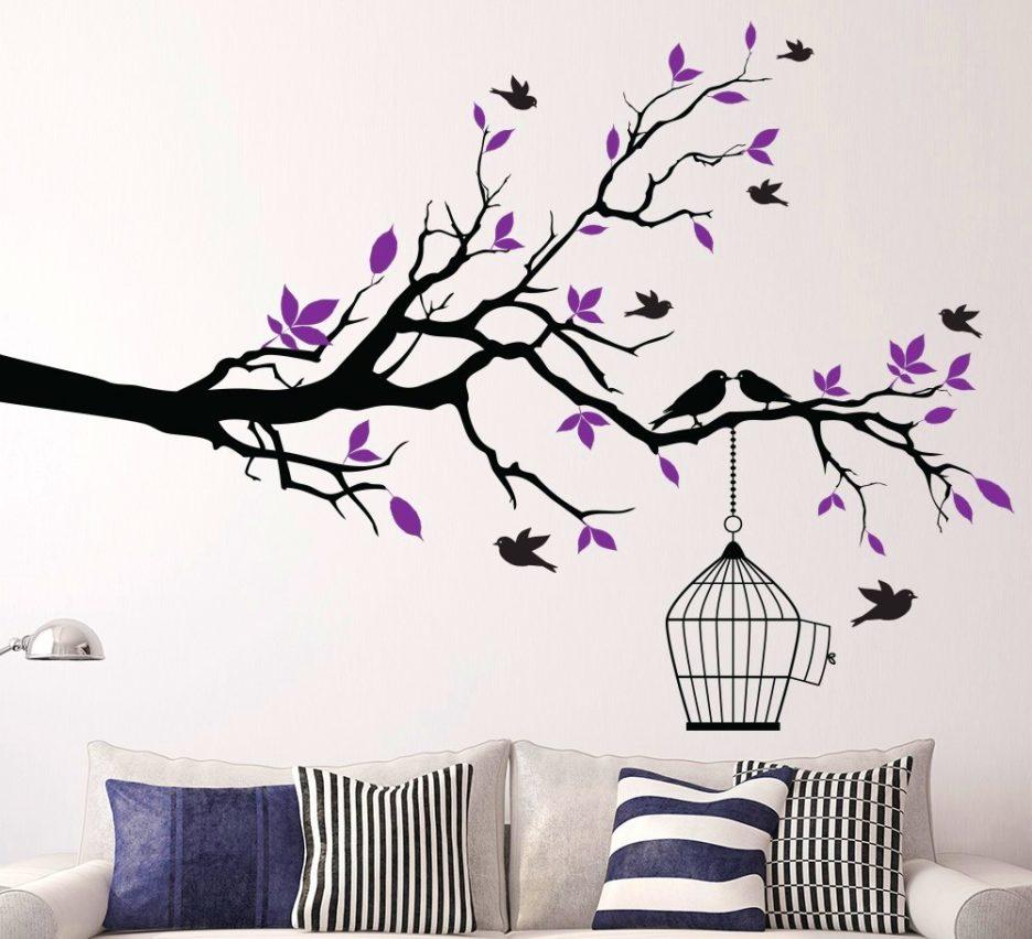 Purple branch art ideas