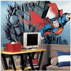 Bedroom superman for mural