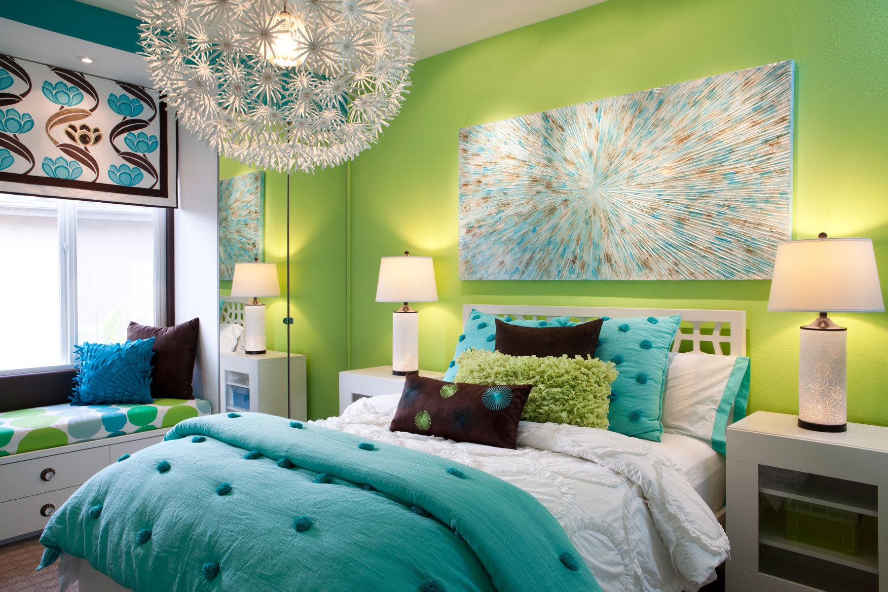 Bedroom soft design picture green