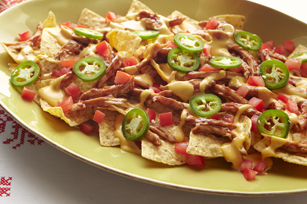 Chicken barbecue nachos