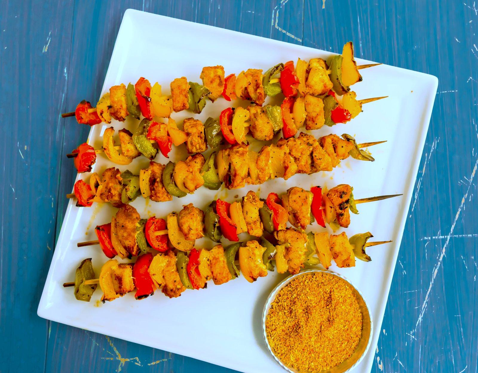 Recipe skewers chicken paprika