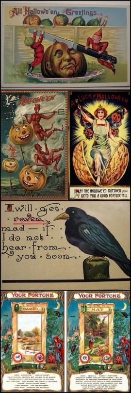 Festive Vintage Halloween Cards