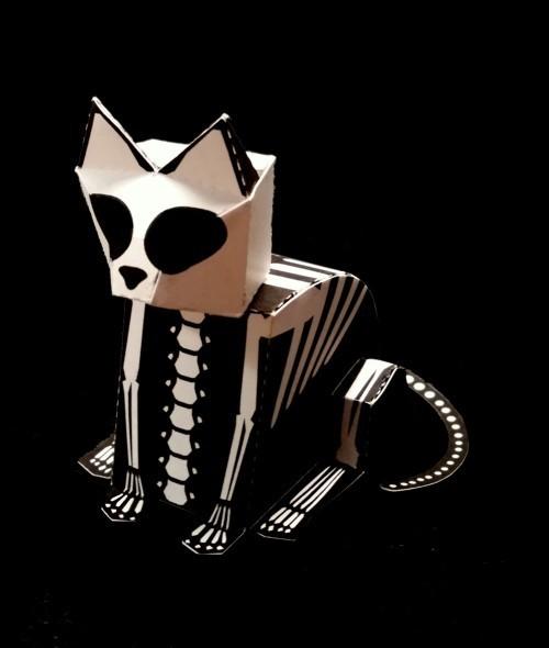DIY skeleton kitty