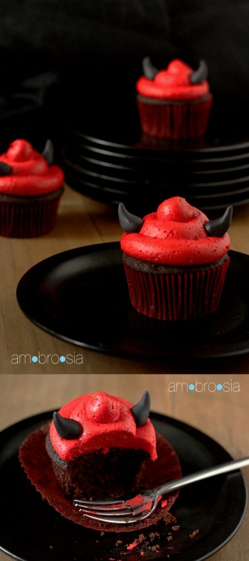DIY Devil's Food Devil Cupcake