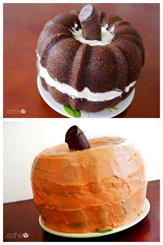 DIY Pumpkin Shaped Cake