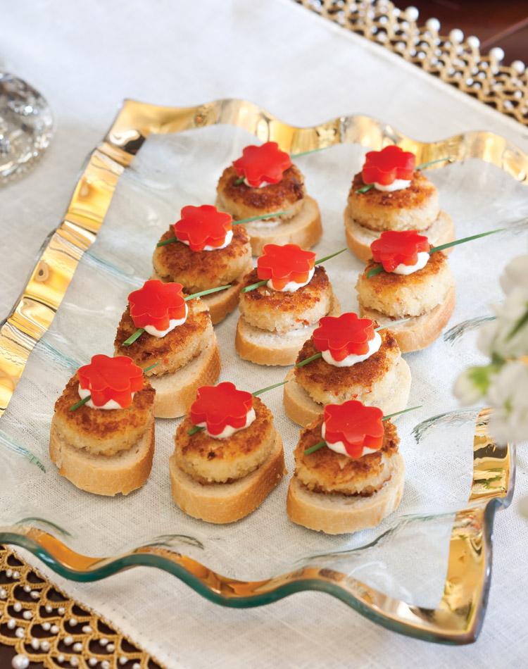 Crab-Cake Crostini