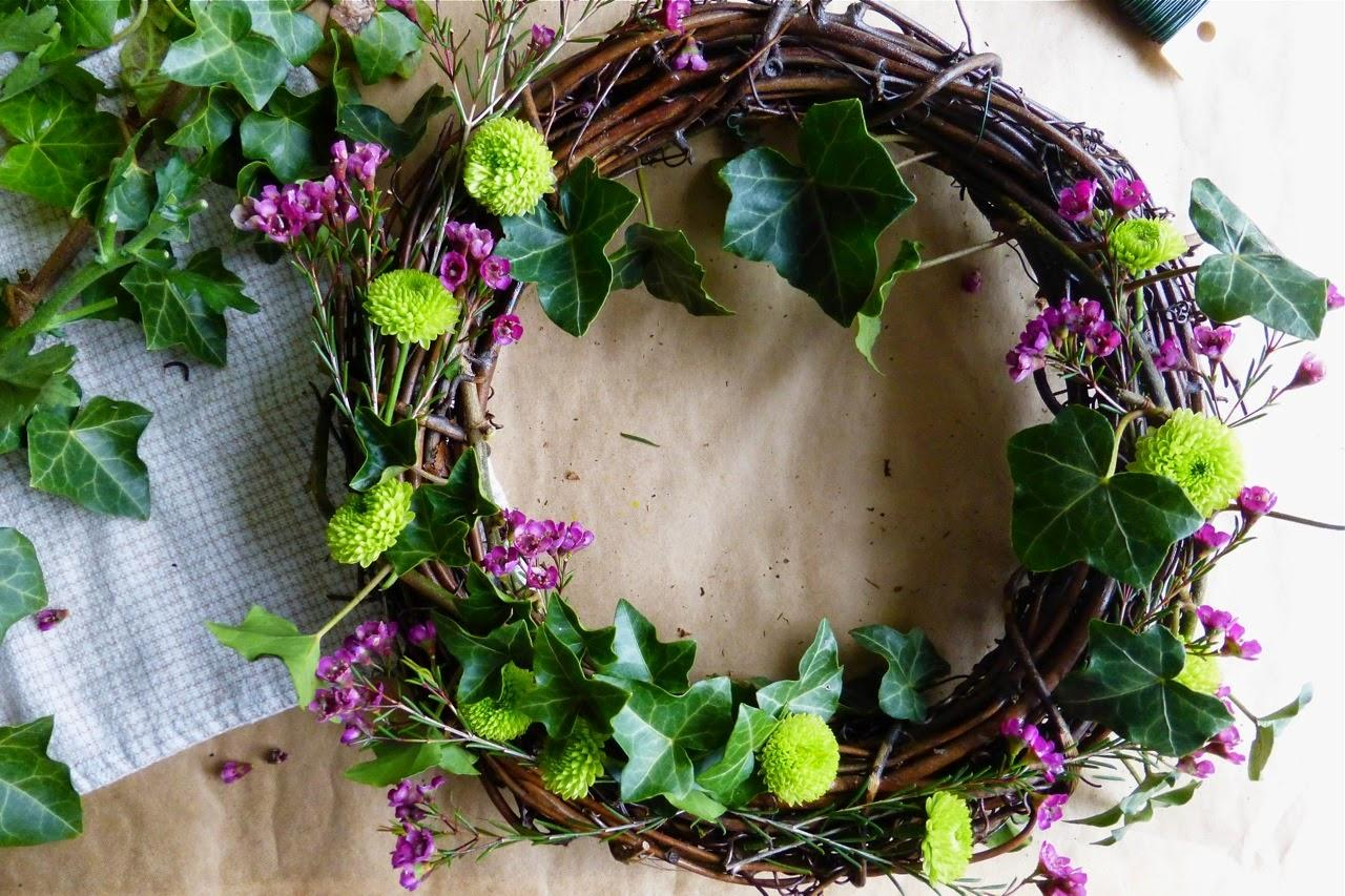 Diy: spring wreath