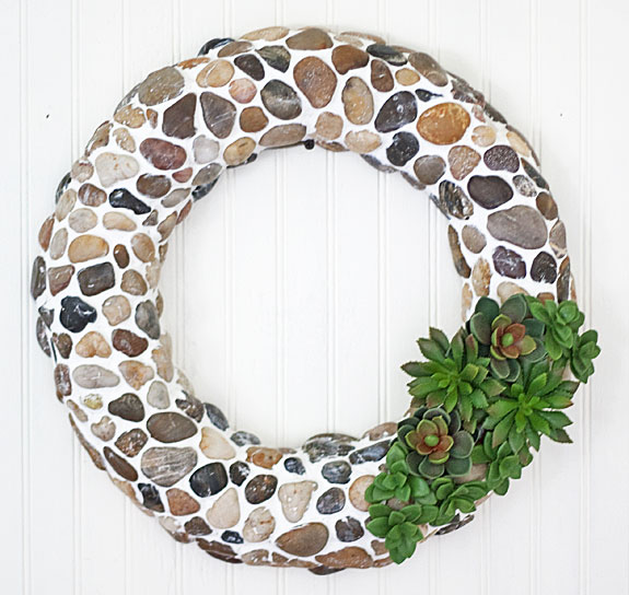 Rustic stone wreath