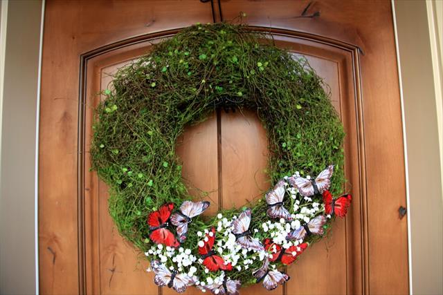Moss butterfly wreaths