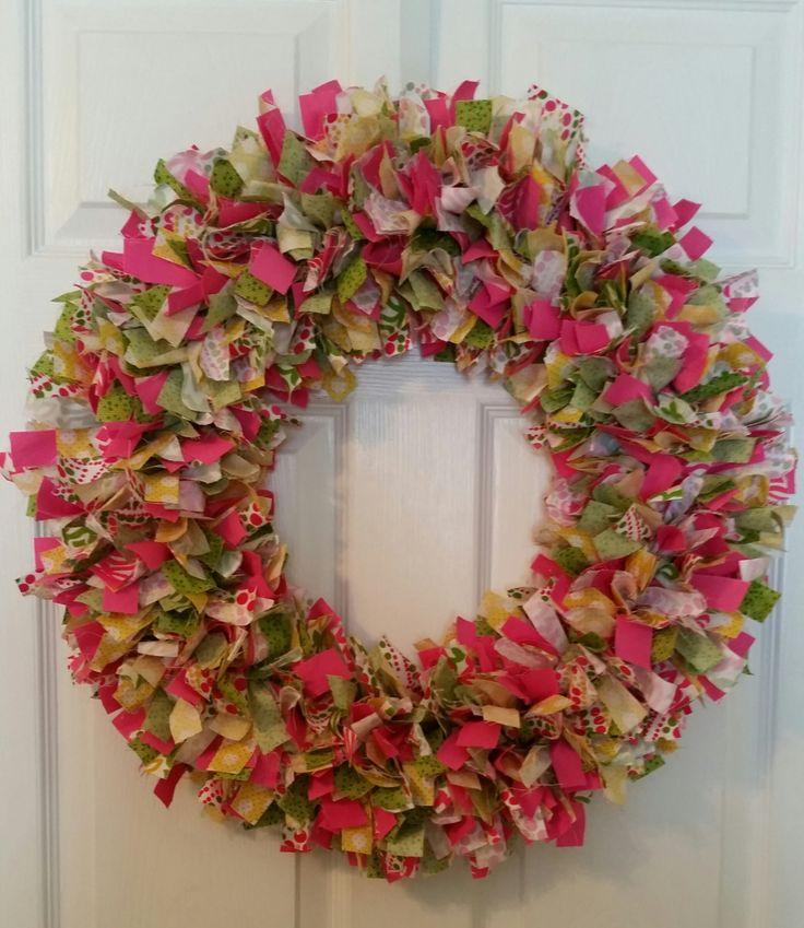 Handmade spring/summer pink wreaths