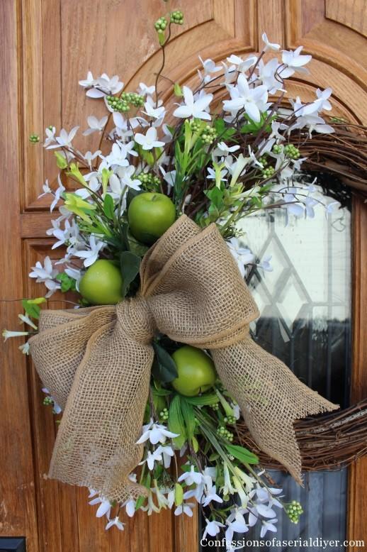 Mesh spring wreaths