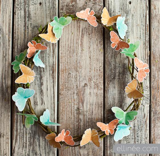 Diy spring wreath butterfly