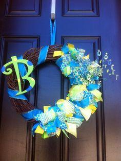 Spring monogram monogram wreath